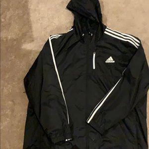 Adidas full zip wind breaker